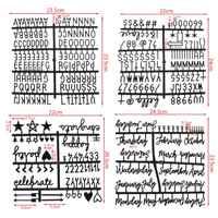 4 teile/satz Zeichen Für Filz Brief Bord Zahlen Für Veränderbare Brief Bord