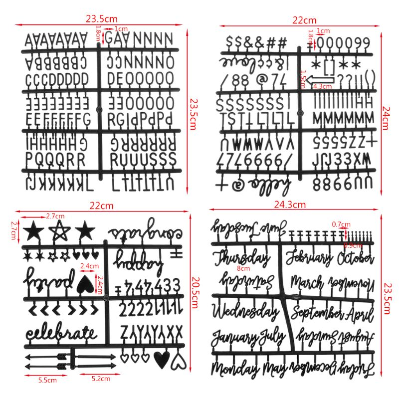 4 шт./компл. цифры для печатной платы со сменными буквами|Доска объявлений| |