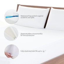 Waterproof Pillow Protector cheapest Smooth pillowcase 50*70 Size For Wetting Block Bed Bugs Dust Mites 1 pcs