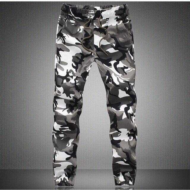 2017 новый прибыть моды для мужчин тонкий стиль милитари случайные штаны Камуфляж военные нескольких карман тощий карандаш молния армия комбинезоны