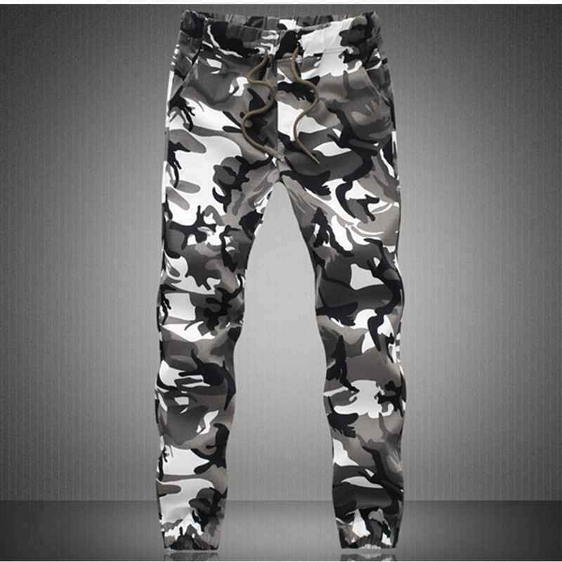 f30580b34a7 2017 new arrive fashion men slim military style casual pants Camouflage  military multi pocket skinny pencil zipper army overalls-in Cargo Pants  from Men s ...