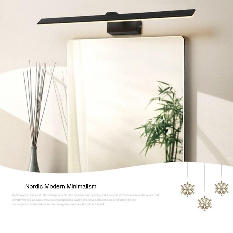Nordic Modern Minimalism Bathroom Wall Lamp Thick 18cm Mirror - Bedroom-vanity-minimalist