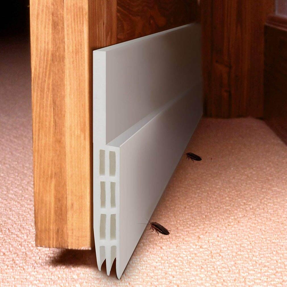 Self Adhesive Silicone Bottom Door Window Tape 1m Rubber Sealing Strip Weatherstriping Sound Insulation Sliding Door Seal Strip