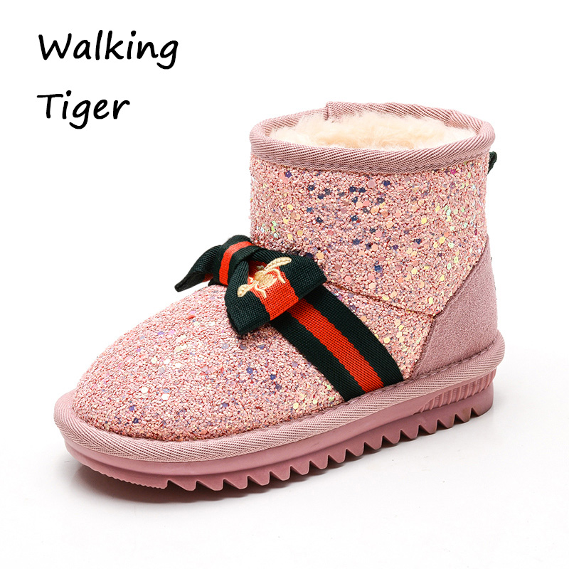 girls snow boot kid shoes winter fashion 2017 girl black pink cute boot children shoe moon boot лыжная одежда