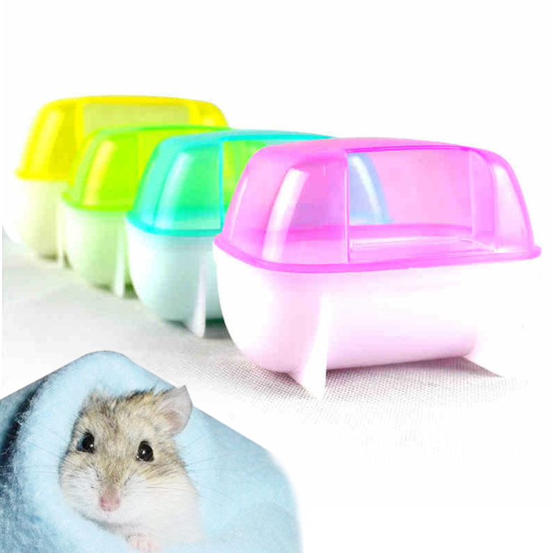 Home Humor Bath Sandbox Pet Random Color Wash Hamster Bathroom Villa Clean Convenience Sauna Room Round Type 1pcs The Color Looks Good Complete In Specifications