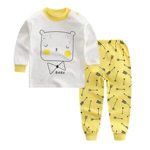 Детская Пижама, Детская Пижама для мальчиков и девочек с принтом обезьяны, кролика и кошки, пижамы для детей от 2 до 10 лет