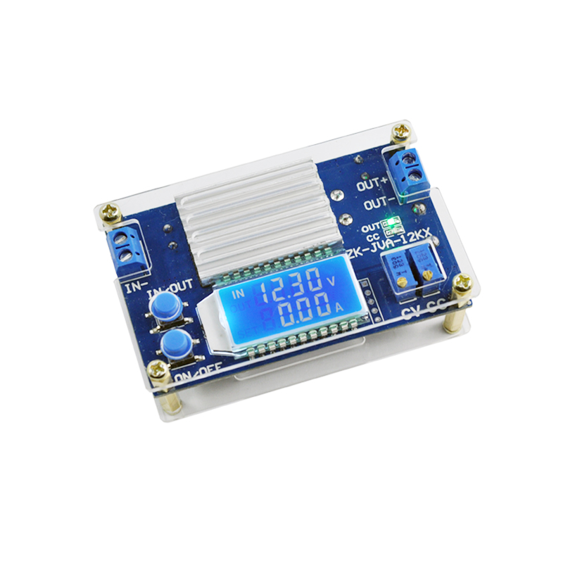 High quality DC CC CV Buck Converter Step-down Power Module 5.3-32V to 1.2-32V 12A/160W lcd Voltage and current power display 1pcs professional step down power dc dc cc cv buck converter step down power supply module 8 40v to 1 25 36v power module