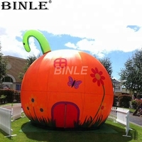5m High customized size Festival outdoor decoration inflatable pumpkin for halloween