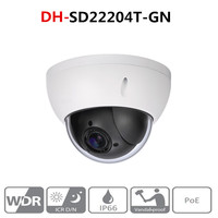 DH наблюдения Камера SD22204T GN 2MP 1080 P PTZ 4X Оптический зум купольная ip камера Камера WDR ICR ультра DNR IVS POE IP66 IK10 с логотипом