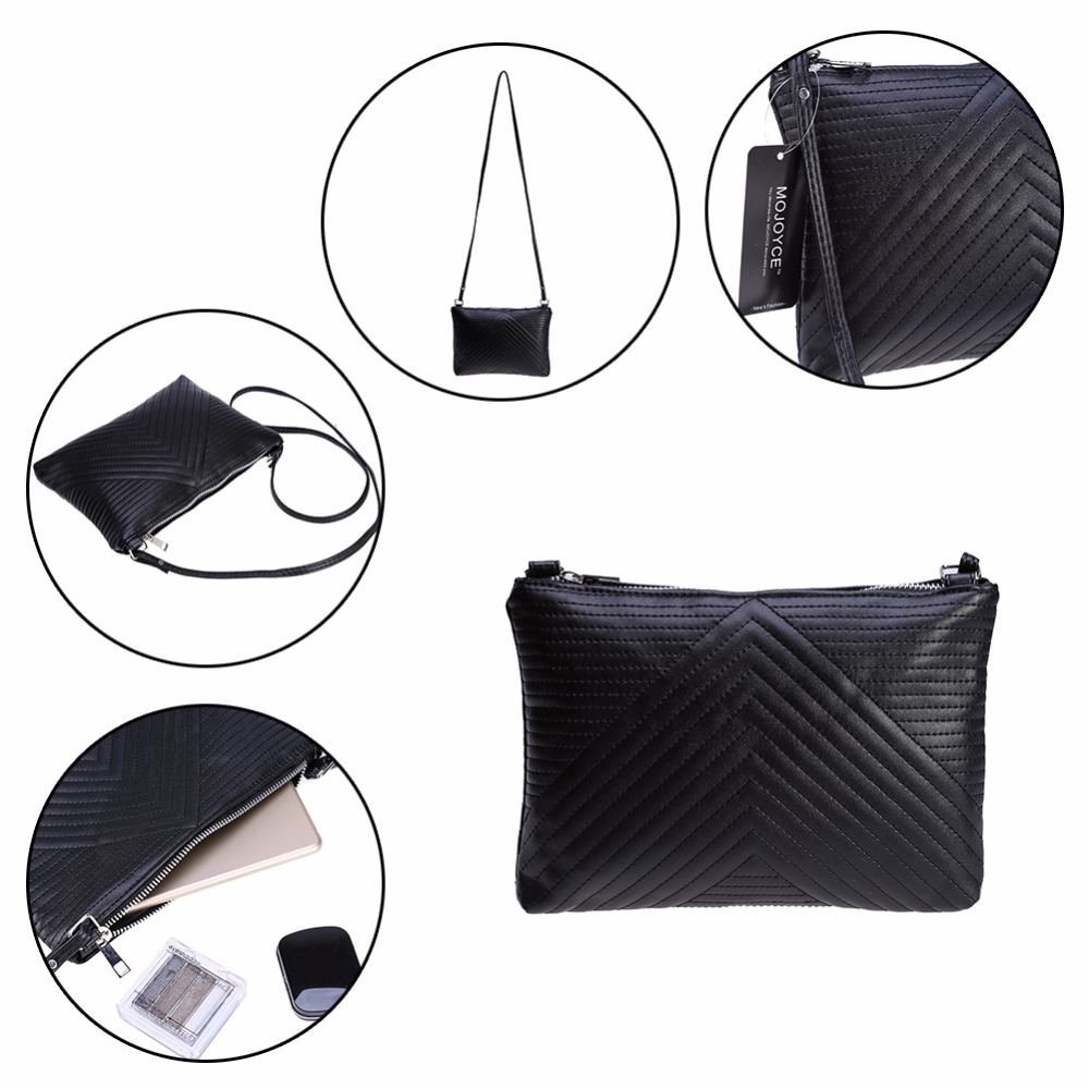 Women Shoulder Bags Long Strap Elegant PU Leather Shoulder Bag Ladies  Street Crossbody Handbags Bolsa Feminina Women Black Bags-in Top-Handle Bags  from ... 12d12c8cc0998