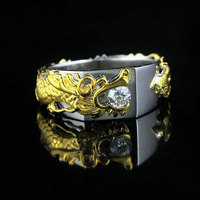 Trendy engagement Rings Dhl 3-7 Day New Fashion 24k Palted Hearts and Arrows sona stone Sterling 925 Rings