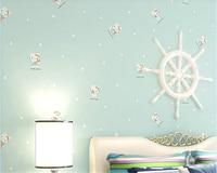 Beibehang Papel De Parede 3D Nonwovens Modern Simple Cute Cartoon Kitten Wallpaper Backdrop Kids Room 3d