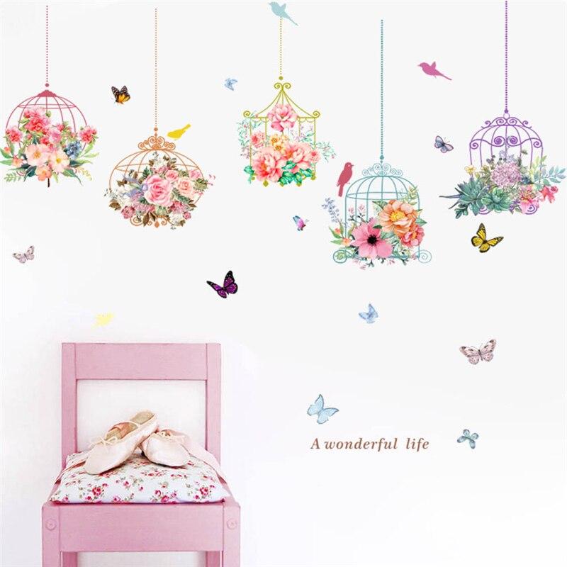 Stickers Muraux 3D Autocollants Adh/¨/¦sif Art D/¨/¦coration Maison Chambre denfant Motif Pot de Plante