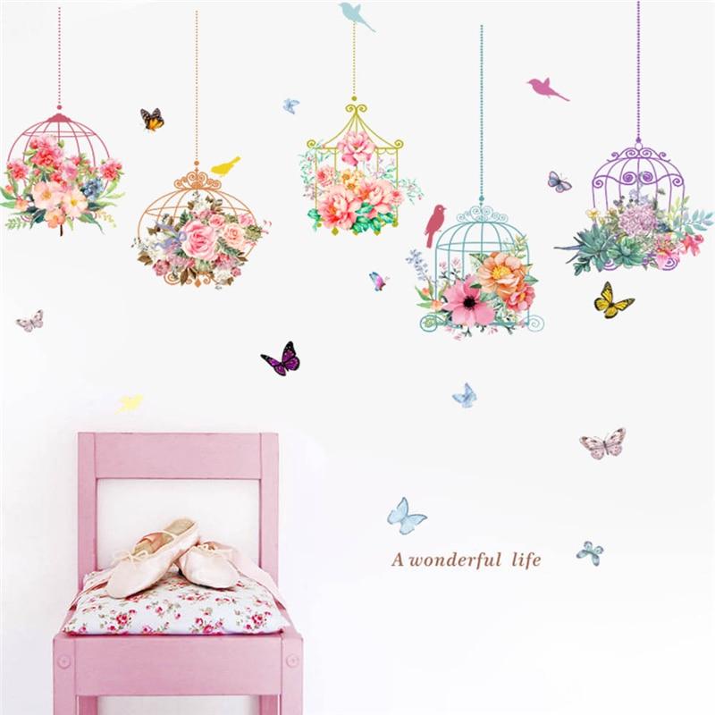 3d vivid garden plants flower wall decals for kids rooms