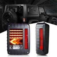 For Jeep Wrangler JK 07 17TailLights LED Rear Tail Lights Brake Reverse Turn Signal Pair Lamps or Jeep Wrangler Stoplight
