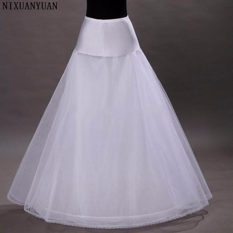 NIXUANYUAN 2020 New Arrives 100% High Quality A Line Tulle Wedding Bridal Petticoat Underskirt Crinolines for Wedding Dress
