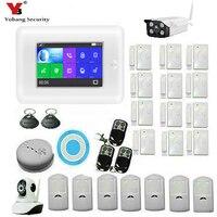 Yobang безопасности беспроводной IP камера Wi Fi DIY умный дом мониторы сигнализации системы Дым пожарный сенсор детектор APP управление