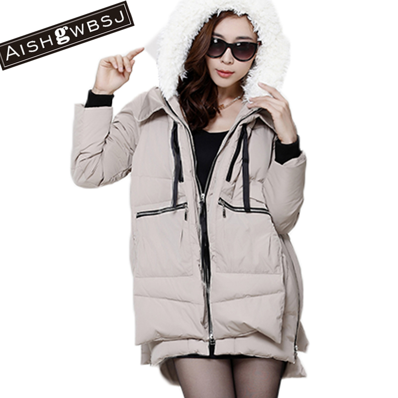 AISHGWBSJ new 2017 winter women jackets cotton padded medium long slim hooded parkas casual wadded snow outwear warm PL030 msfilia new winter coat warm slim women jackets cotton padded medium long thick hooded parkas casual wadded fleece outwear
