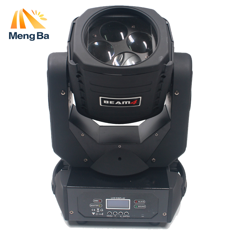 MengBa Super Beam 4x25w Moving Head Light Led Mini Stage Disco Dj Dmx Lamp lumiere Gobo Strobe Laser Show Christmas Party Light factory cheap price party disco dj stage light 30w dmx mini gobo projector spot led moving head for wedding christmas decoration