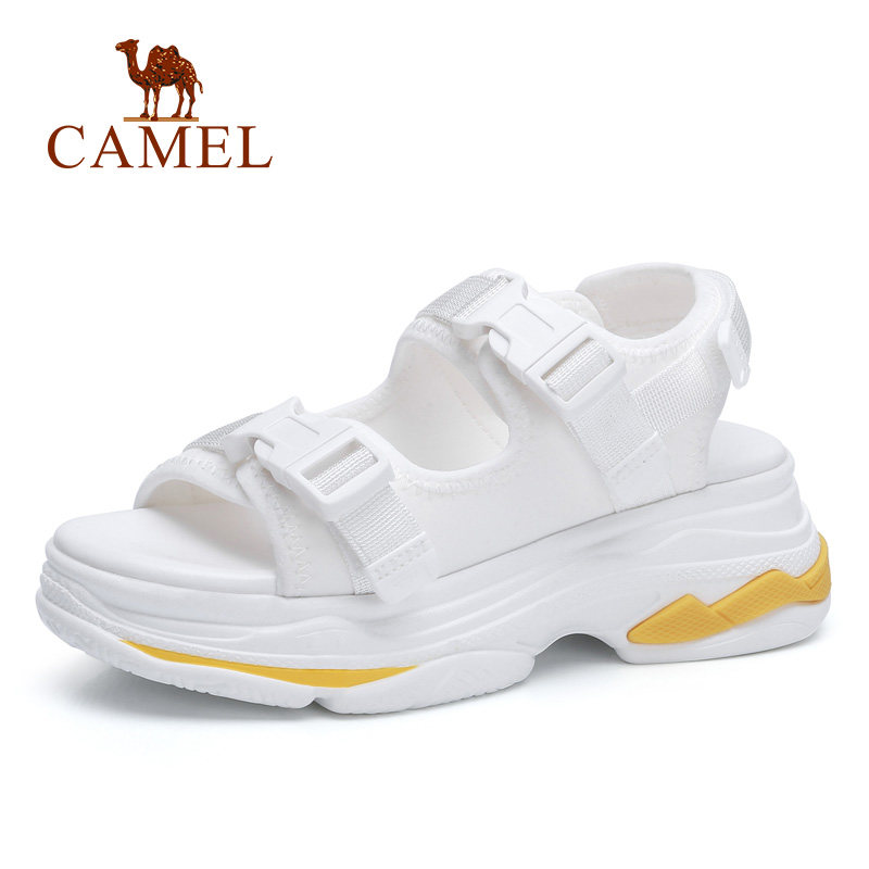 CAMEL Casual Sandals High Rise Buckle Flat Wild Breathable Shoes Women 2018 Summer New Wedges Sandals Fashion Sapato Feminino rome style women sandals 2018 new arrivals fashion summer platform shoes fresh wedges sandals women shoes sapato feminino