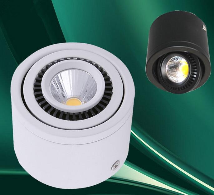 Бесплатная доставка удара 7 Вт/10 Вт/15 Вт квадратный dimmable потолочные Подпушка свет встраиваемые светодиодные лампы 360 градусов вращения AC85-265V