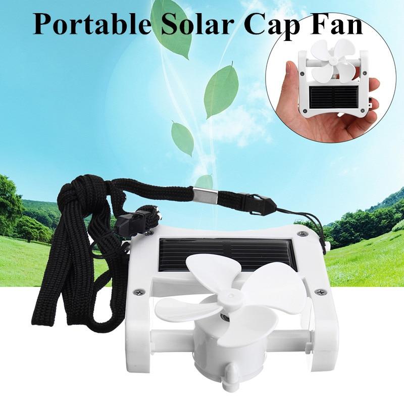 Mini Solar Power + USB Portable Cap Hat Clip on Fan Hanging Mini Desktop USB Fan Camping Cooler High Quality hat mini solar powered clip fan cooling fan portable cap fan