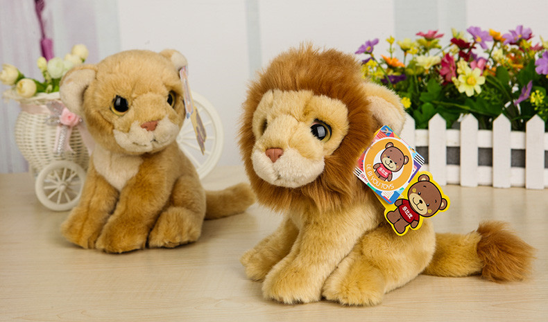 Free Shipping 18CM Cute Lion Plush Toys Lioness Plush Dolls Simulation Stuffed Animal Toys For Kids Christmas & Birthday Gifts 2free shipping 2015 super cutebald eagle dolls plush toys simulation model of wildlife cute baby gifts kids toys