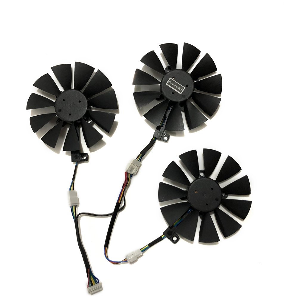 STRIX GTX 1080/1060/1070/980Ti RXVEGA GPU VGA Cooler Graphics Fan For ASUS RX VEGA 64/56 RX480 RX580 Video Fards As Replacement image