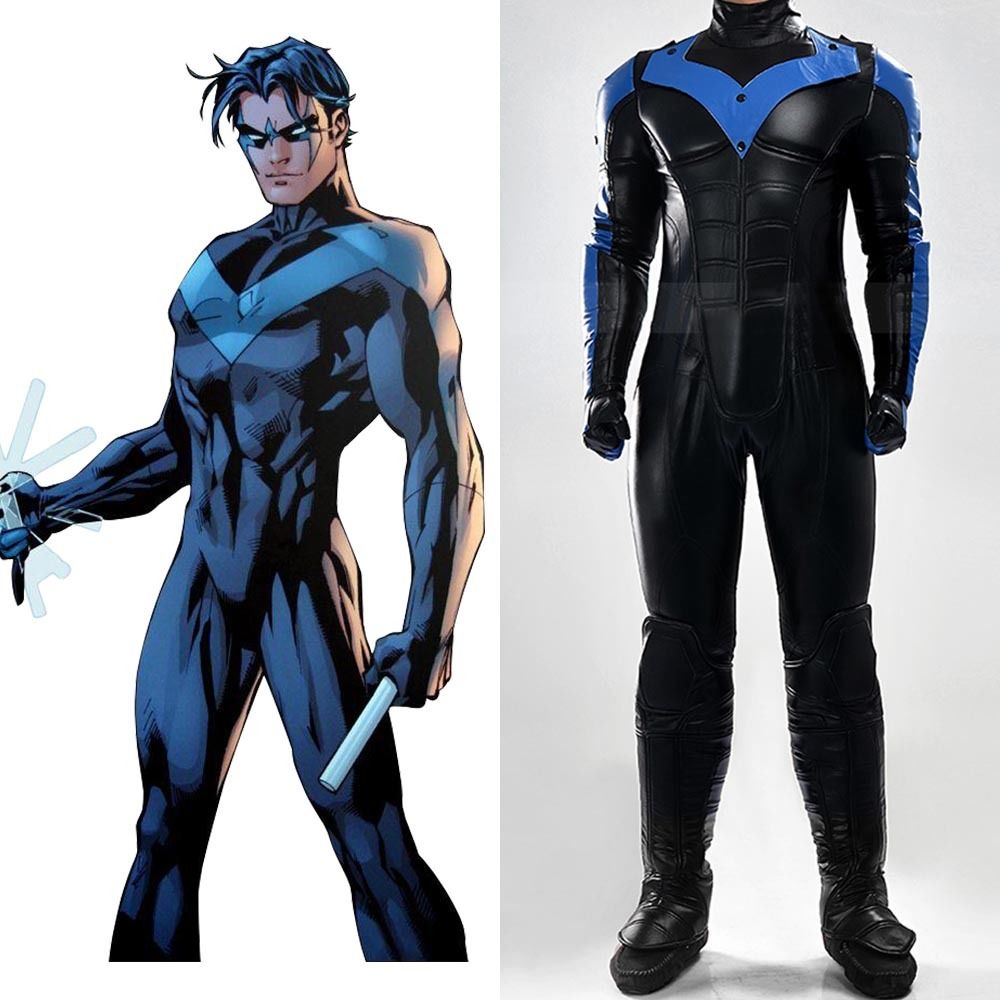 batman cosplay arkham city nightwing robin cosplay costume outfit suit full set uniform party halloween carnival - City Party Halloween Costumes