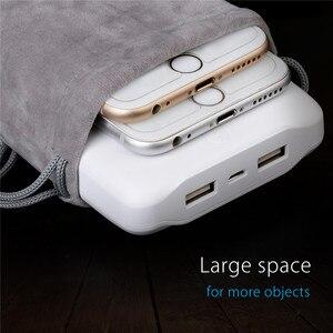 Image 3 - ORICO المخملية 180x100 مللي متر الهاتف المحمول HDD حقيبة لتخزين شاحن يو اس بي USB جهاز شحن (باور بنك) بالكابل الهاتف صندوق تخزين حالة رمادي اللون