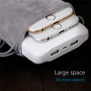 Image 3 - ORICO Velvet 180x100mm Mobile Phone HDD Bag Storage for USB Charger USB Cable Power Bank Phone storage box case Gray Color