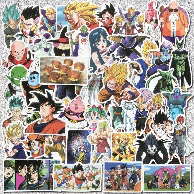 50pcs Japanese Anime Dragon Ball Z Stickers For Skateboard Laptop Motorcycle Fun