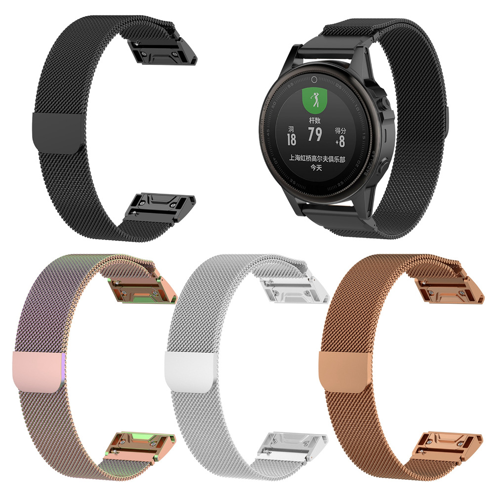 20 22 26mm Milanese Magnetic Quick Fit Watch Band Strap for Garmin Fenix 5 5S 5X 5Plus 5S Plus 5X Plus Watch Wristband