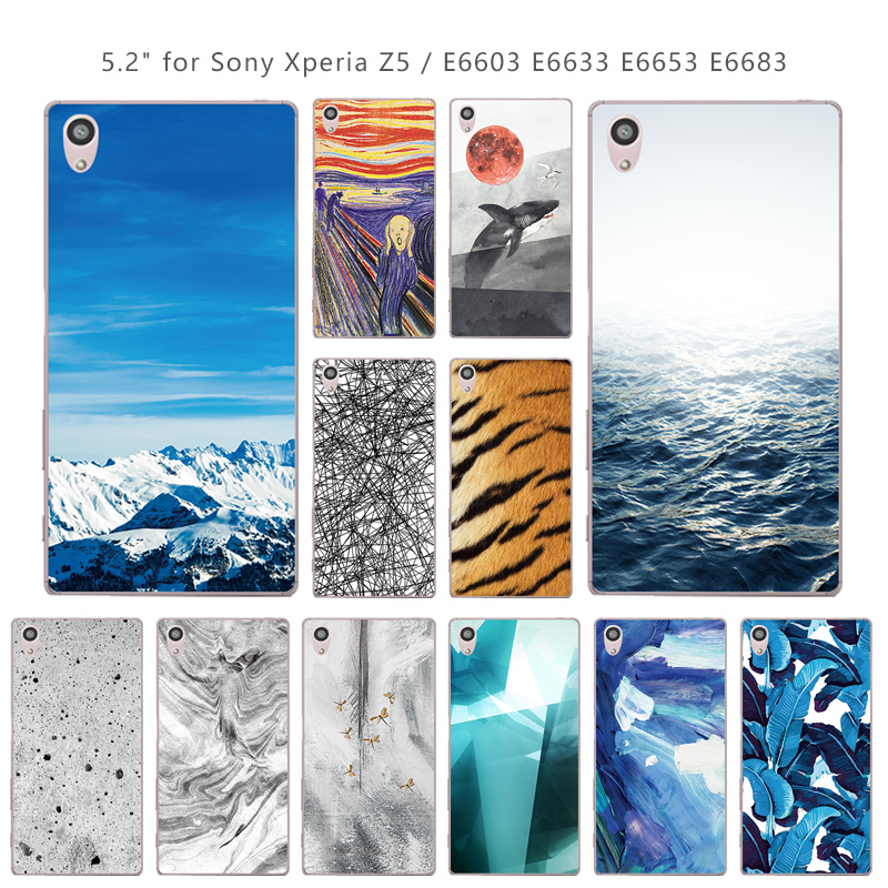 For <font><b>Sony</b></font> <font><b>Xperia</b></font> <font><b>Z5</b></font> Phone <font><b>Cases</b></font> Silicone For <font><b>Sony</b></font> <font><b>Xperia</b></font> <font><b>Z5</b></font> E6003 E6633 <font><b>E6653</b></font> E6683 Landscape Coque Transparent TPU Back Cover image