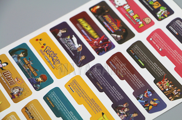 Lable Customer Design for Nintendo Gameboy Advance Label Sticker For GBA Console Back Tag 140pcs/lot=5sets