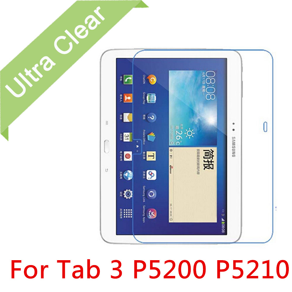 """3X NEW Clear HD LCD Screen Protector for Samsung Galaxy Tab 3 P5200 P5210 10.1/"""""""