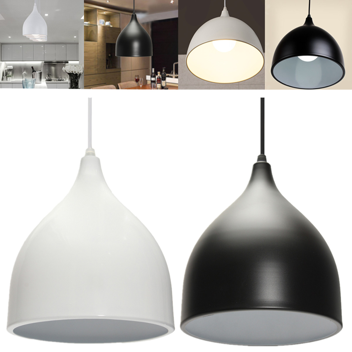 Modern Metal Dome Retro Style Ceiling Chandeliers Light Shade Lampshades Shades Restaurant Lamps Dining Room Home Decor