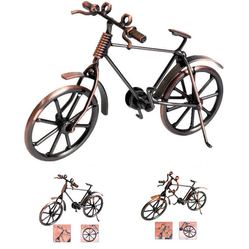 Украшение Дома Ретро металлический велосипед Модель Ремесло велосипед Статуэтка подарки Дети День рождения игрушка подарок настольные ремесла