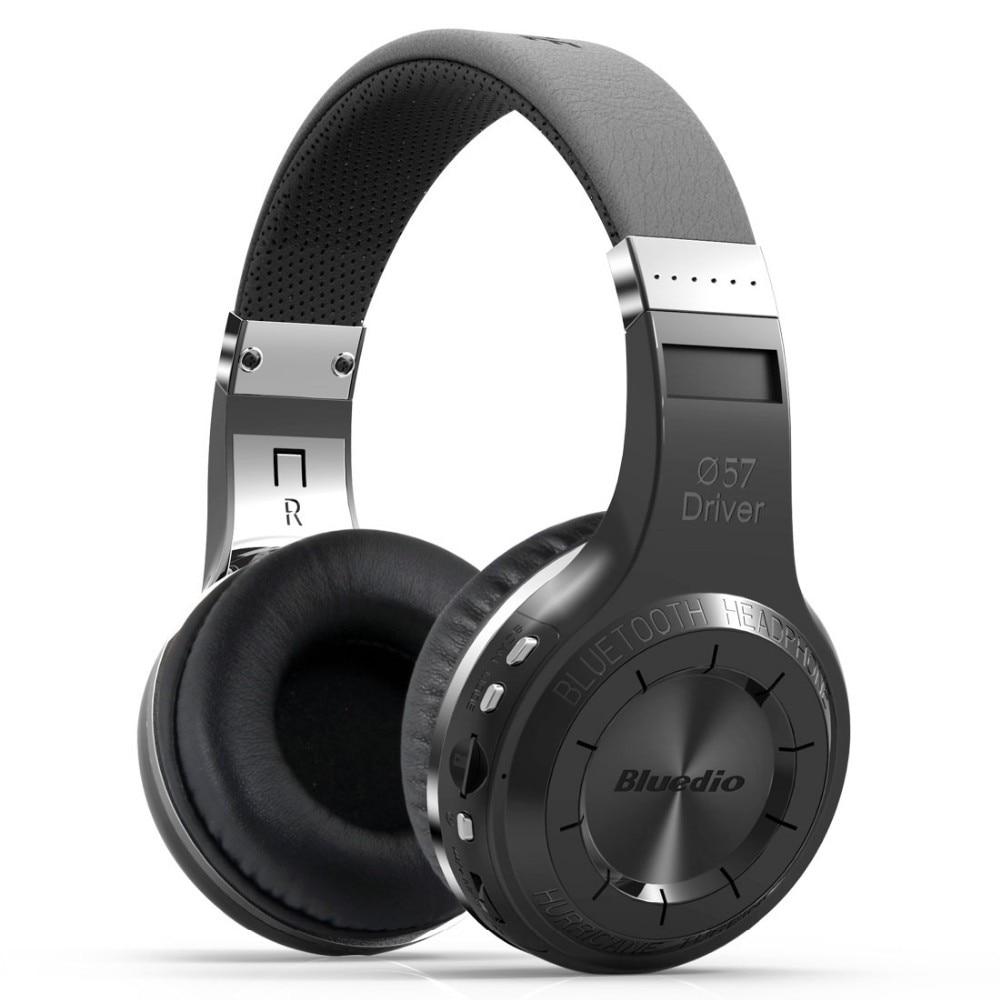 Desxz Bluedio H+ Bluetooth 4.1 Stereo Wireless headphones Mic Micro SD port FM Radio Over ear headphone Stereo Portable Headsets
