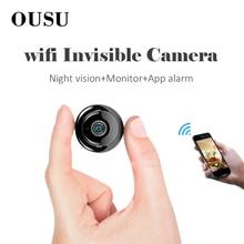 цена на OUSU Invisible camara IP Camera wifi mini kamera CCTV Wireless Cam onvif Infrared Night Vision Video Surveillance Home Security