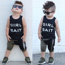 Toddler Kids Baby Boy Summer Vest Tops T-shirt Harem Camo Shorts Outfits Clothes