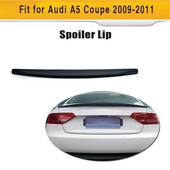 Rear Trunk Boot Custom Spoiler Lip Rear Wing For Audi A5 Coupe 2 Door standard Only 2009 - 2015 Blcak PU
