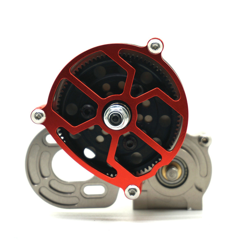 1pc Titanium Red 1/10 RC Crawler SCX10 All Metal Transmission / Center Gearbox for 1/10 Axial SCX10 Gear Box Reverse Parts truck transmission parts gearbox speed sensor wg2209280010 for sinotruck howo