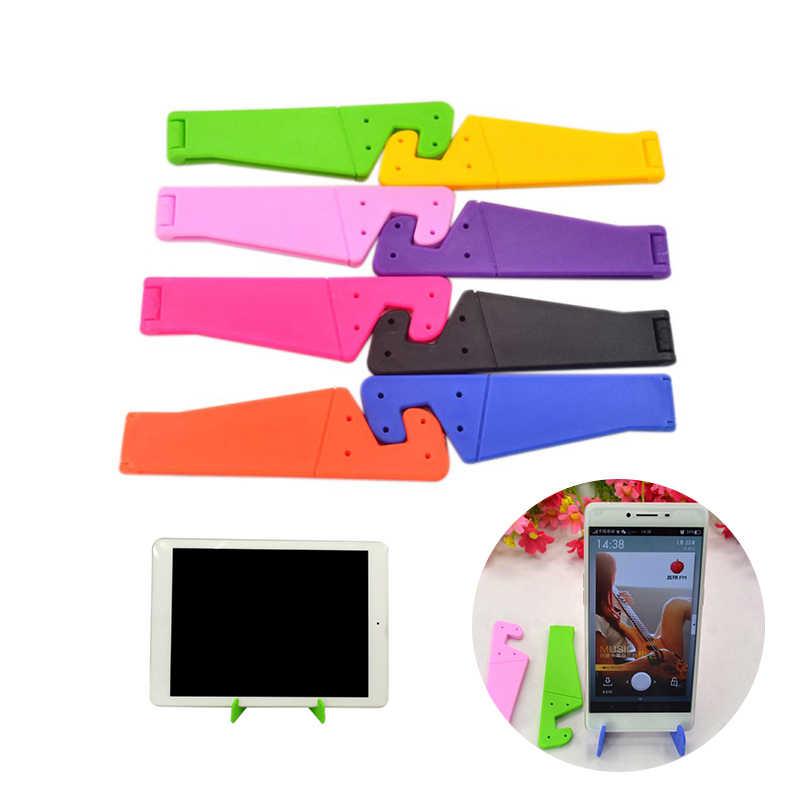 العالمي طوي حامل هاتف حامل ل فون سامسونج Xiaomi الملونة V على شكل كمبيوتر لوحي (تابلت) وهاتف ذكي PC حامل مكتبي الهاتف عقد