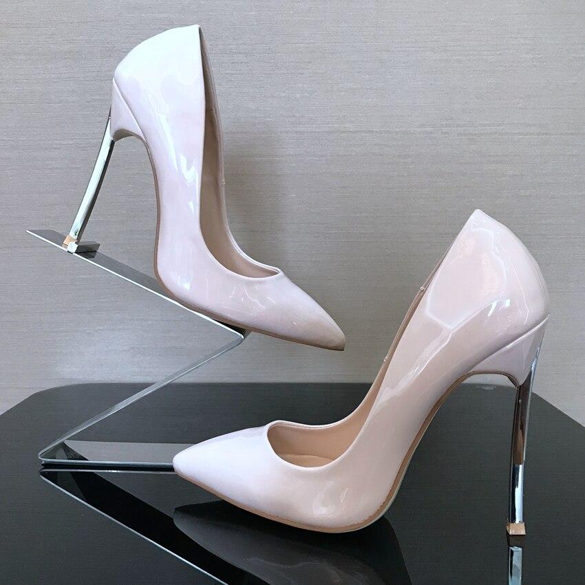 b13dc2e2b9a Fashion Black Nude Patent Leather Dress Shoes For Woman Classics ...
