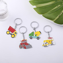 Keychain Car Cute Anime Keychain Luxury Jewelry Cement Truck Car Keychain 2019 New For Women Fashion Best Gift Keychains(China)