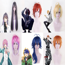 Anime HypnosisMic Division Rap Battle Cosplay Wigs Jinguji Jakurai Doppo Kannonzaka Heat Resistant Synthetic Wig Halloween Party