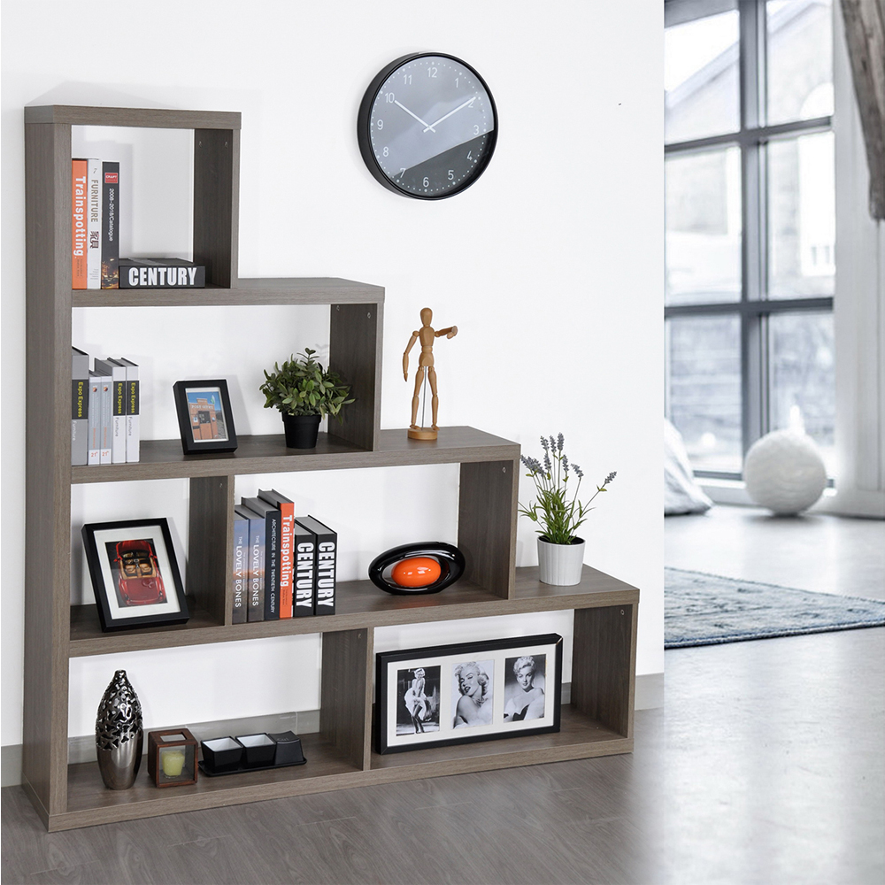 Aingoo L155*H163.3*W29CM Model Bookcase and Big Space Modern Storage Rack for Living/Resting/Dining Room and Reading Room