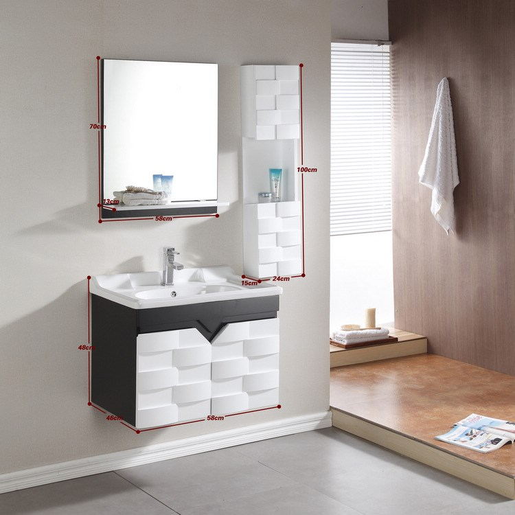 High Quality Bathroom Vanity: Best Sale High Quality Wall Mounted Bathroom Vanity 0283