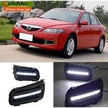 eeMrke Car LED DRL For Mazda 6 Sportkombi Atenza Xenon White DRL Fog Cover Daytime Running Lights Kits